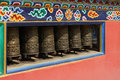 Shechen Monastery Prayer Wheels Royalty Free Stock Image