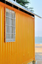 Shed by seaside Stock Photos