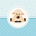 Sheep baby little vector illustration Stock Photos