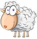 Sheep cartoon isolate on white background Royalty Free Stock Images