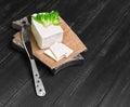 Sheep cheese feta Sirtaki Royalty Free Stock Photo
