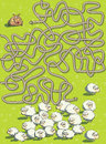 Sheep and Dog Maze Game Royalty Free Stock Image