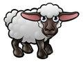Sheep Farm Animals Cartoon Character Royalty Free Stock Photo