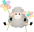 Sheep with flowers image representing a isolated on white vector design Royalty Free Stock Photography