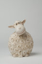 Sheep moneybox a in the form of a made out of pottery Stock Photo