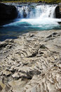 Sheep river waterfall Royalty Free Stock Photos