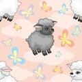 Sheep seamless pattern
