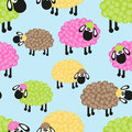 Sheep seamless pattern for your design Royalty Free Stock Image