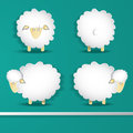 Sheep set animal farm comic vector Royalty Free Stock Photos