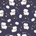 Sheep sleeping sweet dream background fabric animal cartoon collection background vector illustration using for kids