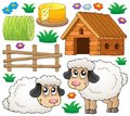 Sheep theme collection eps vector illustration Stock Images