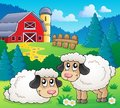 Sheep theme image eps vector illustration Royalty Free Stock Photos