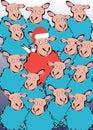 Sheep vector cartoon animal illustration drawing Royalty Free Stock Photo