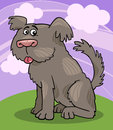 Sheepdog shaggy dog cartoon illustration Royalty Free Stock Photos
