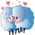 Sheeps in love Royalty Free Stock Photos