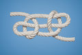 Sheepshank knot is most commoly used to shorten a rope although it is not a stable Stock Image