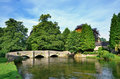 Sheepwash bridge at ashford in the water and river wye derbyshire england Stock Images
