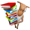 Sheepy with books Royalty Free Stock Image