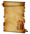 Sheet of ancient parchment Stock Photo