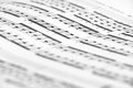 Sheet music close up shot very shallow depth of field could be easily used in any design enjoy Royalty Free Stock Image