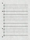 Sheet of music a paper for notation Stock Photo