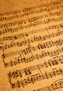 Sheet Music on Parchment Stock Photo