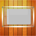 Sheet of paper after glass on a background a wooden wall Royalty Free Stock Photo