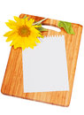 Sheet of paper for record of recipes Royalty Free Stock Photo