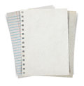 Sheet of paper stack  on white background Royalty Free Stock Photo