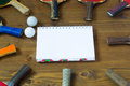 Sheet record a game of table tennis place to Royalty Free Stock Photography