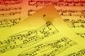 Sheetmusic Royalty Free Stock Photo