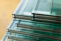 Sheets of Tempered Window Glass Royalty Free Stock Photo