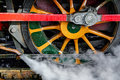 SHEFFIELD PARK, SUSSEX/UK  -OCTOBER 26 : Steam train wheel at th Royalty Free Stock Photo