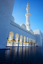 Sheik zayed mosque abu dhabi world s biggest in warm evening light Stock Photography