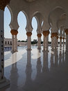 Sheik zayed mosque grand in abu dhabi uae Royalty Free Stock Image