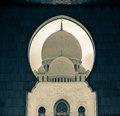 Sheik zayed mosque view at abu dhabi Royalty Free Stock Photography
