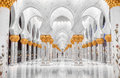 Sheik zayed mosque view at abu dhabi Stock Photography