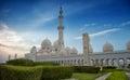 Sheik zayed mosque view at abu dhabi Royalty Free Stock Image