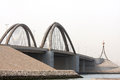 Sheikh Khalifa Bin Salman causeway Bridge, Bahrain Royalty Free Stock Photos
