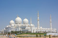Sheikh zayed grand mosque in abu dhabi Stock Afbeelding