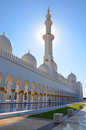 Sheikh zayed grand mosque abu dhabi in afternoon sunlight Stock Photo