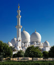 Sheikh zayed grand mosque abu dhabi is the largest in the uae area of square meters minarets are meters high and domes of varying Stock Photography