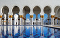 Sheikh zayed grand mosque abu dhabi is the largest in the uae it host majestic columns design of can be best described as a fusion Stock Images