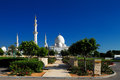 Sheikh zayed grand mosque abu dhabi is the largest in the uae and rd world as country s Stock Photo