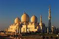 Sheikh zayed grand mosque abu dhabi is the largest in the uae and rd world this image golden Stock Images