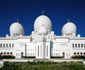 Sheikh zayed grand mosque abu dhabi is the largest in the uae and rd world this image shows part of Stock Photo