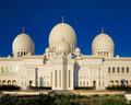 Sheikh zayed grand mosque abu dhabi is the largest in the uae and rd world this image shows part of Stock Images