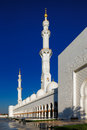Sheikh zayed grand mosque abu dhabi is the largest in the uae and rd world it key place of Royalty Free Stock Image