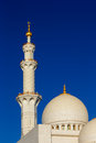 Sheikh zayed grand mosque abu dhabi is the largest in the uae and rd world majestic minarets stand Stock Image