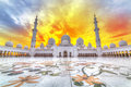 Sheikh Zayed Grand Mosque in Abu Dhabi, UAE Royalty Free Stock Photo